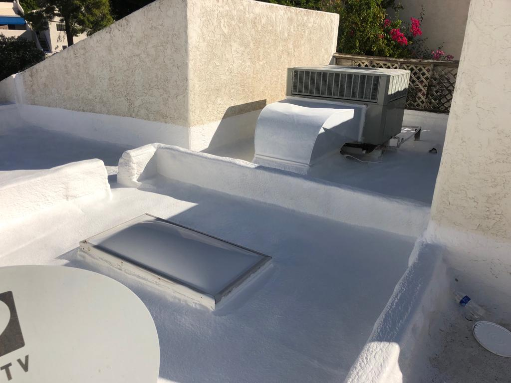 Commercial Apartment Foam Roof by Patriotic Roofing