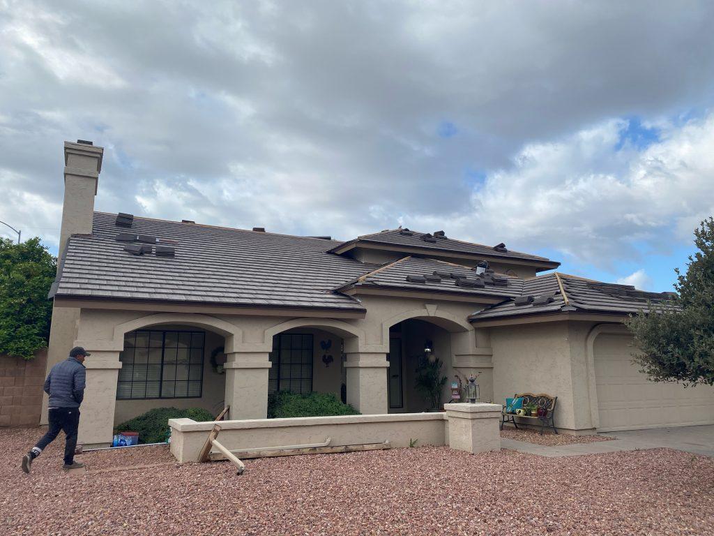 Most comon Roof type - plana flat tiles