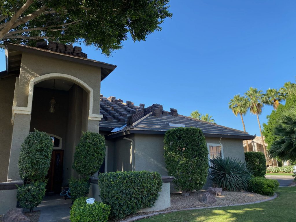 Roofing Contractor adding New roof to Gilbert residence